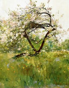 Peach tree in bloom, Villiers-le-Bel, Childe Hassam, 1889 , from Iryna
