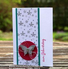 Geburtstagskarte in Bermudablau und Wassermelone