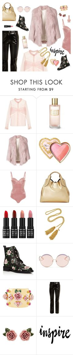 """My Resolutions: Say Yes to New Adventures!"" by sproetje ❤ liked on Polyvore featuring Mary Katrantzou, Estée Lauder, Miu Miu, Too Faced Cosmetics, Fleur du Mal, Lanvin, MAKE UP FOR EVER, Kenneth Jay Lane, Rebecca Minkoff and N°21"