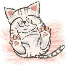 Innocent American Shorthair royalty free innocent American Shorthair stock vector art and more images of tabby cat Kitten Drawing, Cute Cat Drawing, Drawing Art, Drawing Tips, Sleepy Cat, Animal Drawings, Drawing Animals, Cat Art