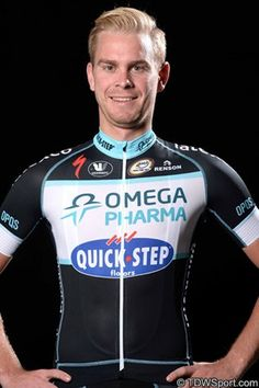 Black replaces blue and white on team jersey - The Omega Pharma Quick Step team has unveiled a new look for with a black colour scheme being introduced to the kit and reworking the appearance. Quick Step Flooring, Pro Cycling, Bicycling, Blue And White, Black, Omega, Wetsuit, New Look, Motorcycle Jacket