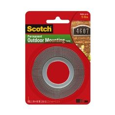This is the strongest mounting tape you'll ever find... it's exterior mounting tape by Scotch but I use it for hanging up my bulletin boards.
