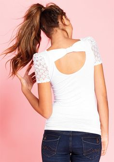 dELiAs > Lace Ruched Short Sleeve > tops > view all tops