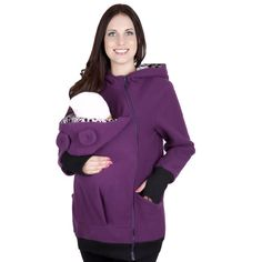 Women Maternity Hoodies Coat Hooded Tops Sweatshirt Jumper Outwear BABY CARRIERS