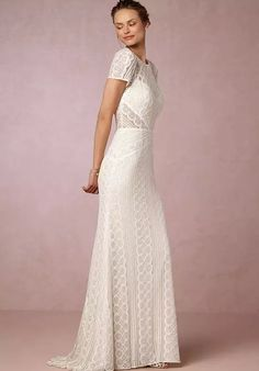 Look no further for the most beautiful beach wedding dresses than BHLDN. Embody the beachy bride you've been envisioning with a beach wedding dress that pairs with the beautiful coastline. Wedding Attire, Wedding Bride, Boho Wedding, Denim Wedding, Wedding Bells, Fall Wedding, Bhldn Wedding Gowns, Bridal Gowns, Structured Gown