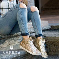 Kammi Sneakers Glitter oro