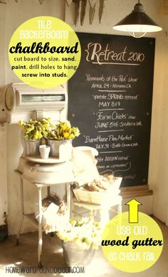 the BEST idea for making chalkboards EVER! from Deb @ HOMEWARDfoundDecor.com