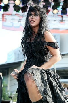 Cristina Scabbia performs in concert with Lacuna Coil during the River City RockFest at the at&t Center on May 24, 2014 in San Antonio, Texas