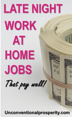 Genuine Late Night Work at Home Jobs That Pay Well These late night work at home jobs are perfect for you to supplement your income if you have no time during the day! Work at home parents, moms or dads can use these to earn more income. Earn More Money, Ways To Earn Money, Make Money Fast, Earn Money Online, Make Money From Home, Night Jobs, Best Online Jobs, Paid Surveys, Making Extra Cash