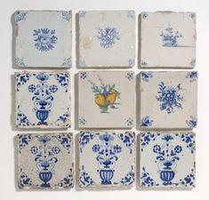 flor del azulejo olla