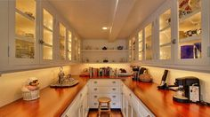 Butler's Pantry By the Way Cottage in Carmel California  - http://hookedonhouses.net/2014/06/05/an-english-country-style-cottage-in-carmel-by-the-sea/#more-59864
