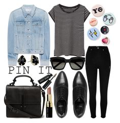 """""""Pins With Personality"""" by sc-styles on Polyvore featuring rag & bone, Bing Bang, River Island, AllSaints, MANGO, Yves Saint Laurent, Bobbi Brown Cosmetics and Kendra Scott"""