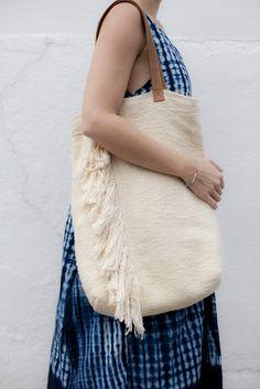 pima cotton fringe tote