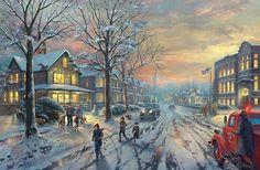A Christmas Story - Thomas Kinkade - World-Wide-Art.com