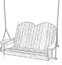 drawing of a porch swing | Porch Swing
