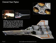Original Battlestar Galactica filming miniature model