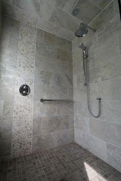 river rock shower detail