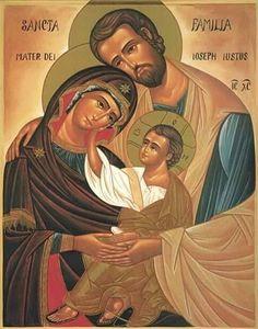 Religious Images, Religious Icons, Religious Art, Orthodox Catholic, Catholic Art, Greek Icons, Jesus Mary And Joseph, Religion, Bible Images