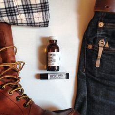 Matching my beard oil and clothes to my mood. It's a rugged kind of day with Lumber Yard beard oil and mustache wax from @beardbrand, boots from @redwingshoes, and an old flannel. #beard #beards #beardsman #beardbrand #urbanbeardsman #teambeardbrand #redwingheritage #redwingshoes #redwingaddicted #menswear #mensshoes #mensstyle #mensfashion #mensstyleguide #fashion #fashionblog #fashionblogger #style #styleblog #stylegram #styleinspiration #denim #denimhead #selvedge #selvedgedenim #edc…