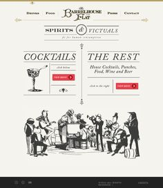 I really like the top part of this, the fonts and the layout of Cocktails and The Rest, the antique look but maybe not so on the nose
