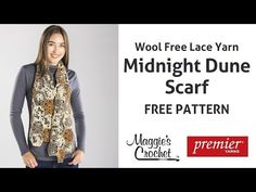 ▶ Midnight Dune Scarf Free Crochet Pattern - Right Handed - YouTube