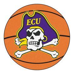 East Carolina Pirates NCAA Basketball Round Floor Mat (29)
