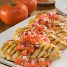 Marinated Chicken Bruschetta - Healthy Low calories Recipes - http://toprecipesmagazine.com/marinated-chicken-bruschetta-healthy-low-calories-recipes/