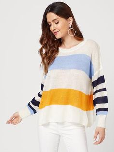 Women's Clothing Responsible Womens Chiffon Long Sleeves Semi Sheer Bikini Cover Up Four Colors Patchwork Vertical Stripes Oversized Kimono Cardigan Side Aromatic Flavor