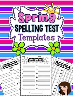 **FREEBIE** Spring Spelling Test Templates