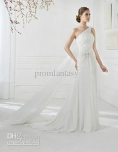 wholesale flowy chiffon wedding dresses