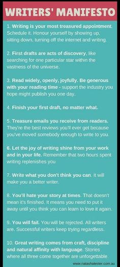 Writers Manifesto #screenwritingschools