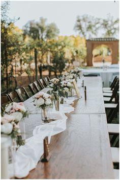 Wedding Table Settings | Wedding Decor | Winery Wedding | Light Floral Wedding | White and Pink Rose Bouquets | Rustic Wedding Decor | Fall Wedding | Casa Rondena Wedding | New Mexico Wedding | Kings Table