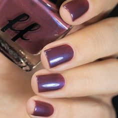 femme_fatale_cosmetics - our new Green Gables collection, Currant Wine is a deep, rich berry red crelly, with a blue glow