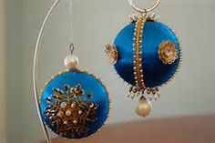 vintage beaded satin ornaments - Yahoo Image Search Results