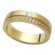 VL 068 Par de Aliança em Ouro Amarelo 18 k c/ Brilhantes Couple Rings, Anniversary Rings, Ring Designs, Wedding Bands, Jewelry Rings, Gold Rings, Rings For Men, Jewelry Design, Bling