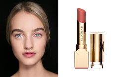"""For an easy, everyday summer look, it's all about a light shade of pink. It was trendy this season (as seen here at Dior) to pair a pink lip with cotton-candy pink eyeshadow, but avoid dusting it under the eyes or it can make you look ill. For a similar look, try Clarins' Rouge Eclat Lipstick in """"Rose Praline"""", $28; clarinsusa.com."""