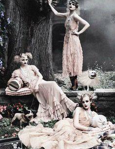 Sasha Pivovarova, Guinevere Van Seenus & Caroline Trentini by Steven Meisel for Vogue US