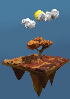 Low Poly Season on Behance
