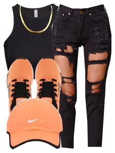 """7/26/15"" by queenc98 ❤ liked on Polyvore featuring H&M, Reverse, adidas Originals and NIKE"