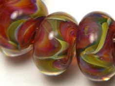 DanielsBeads Boro Lampwork Glass Bead Set (10) --- Liverpool