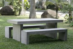 ultra lightweight fiber concrete outdoor table bench