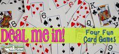 Deal me in!  Card Games (Freebie)    ---Crockett's Classroom