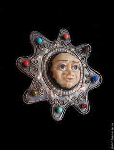 елочная игрушка Солнце из меди (авторские елочные украшения) - новый год 2015 - Elena Schelchkova