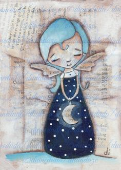 Original Cereal Box Art Paintng  Midnight Blue by DUDADAZE on Etsy, $25.00 ©dianeduda/dudadaze