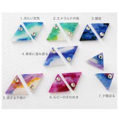 7th トライアングル Sky 〜クリスタルの星〜 ピアス/イヤリング