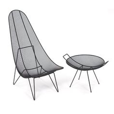 """#8001 Scoop chair and #2001 Catch-all designed by Sol Bloom in 1951 for Archie Kaplan's """"Designed by Moderns"""""""