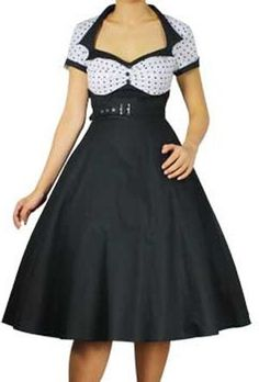 Pretty Kitty Fashion 50s Polka Dot Swing Cocktail Dress - See more at: http://45.gs/wovh