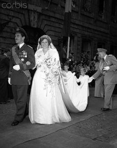 1950 : mariage de la princesse Alix de Luxembourg et du prince Antoine de Ligne