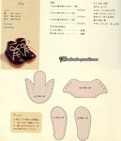 Shoe pattern - Doll's therapy from VKVarrni a babákat együtt VKSeveral shoe designs patterns -- Photo Blythe Dolls, Girl Dolls, Barbie Dolls, Ag Dolls, Doll Shoe Patterns, Clothing Patterns, Doll Crafts, Diy Doll, Sewing Dolls