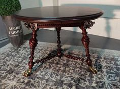 Antiques By Design - Hunzinger Victorian Mahogany Breakfast Table